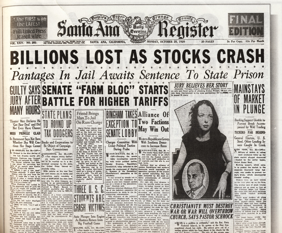 how the stock market crash of 1929 affected the united states essay Five devastating slumps—starting with america's first crash, in 1792, and ending  with the world's biggest, in 1929—highlight two big trends in financial evolution.