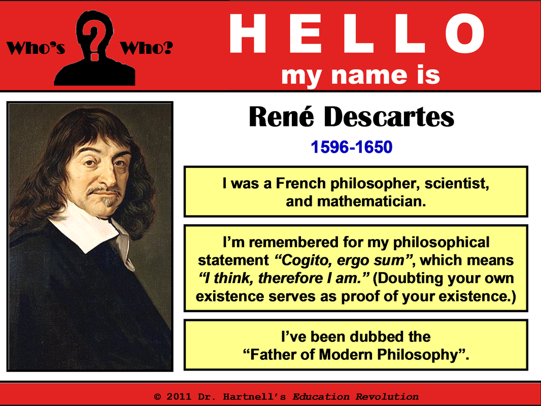 rene descartes essays Rene descartes was a brilliant man his works on philosophy, physics and mathematics are still heavily influenced much to all of these studies today in our modern world.