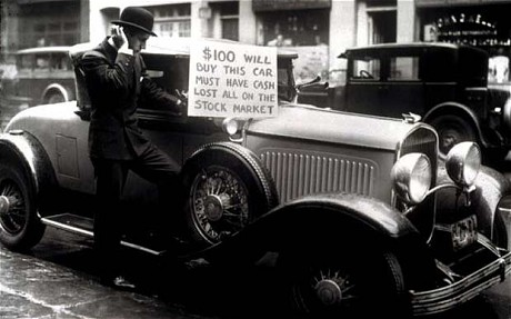 Great depression for Wall street motor cars
